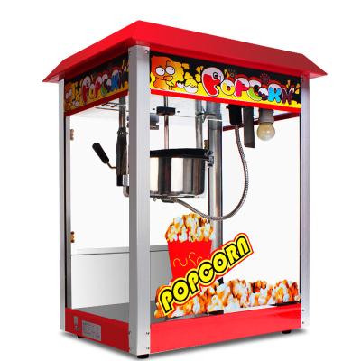 lecon乐创 爆米花机 商用全自动不锈钢电动爆米花机器 不锈钢管 爆米花爆谷机小吃设备