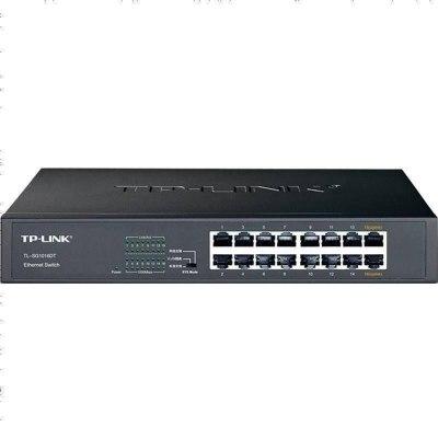 新TP-LINK TL-SG1016DT 16口全千兆網絡交換機高速網線分線器分流家用商用企業級電腦辦公監控tplink