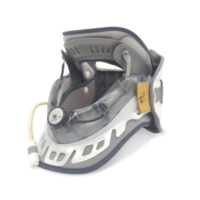 修正颈椎牵引器拉伸器医用家用治疗仪颈托自然曲度固定支撑矫正器按摩器前后双气囊+后置加压旋钮 均码 BA-JQ-C