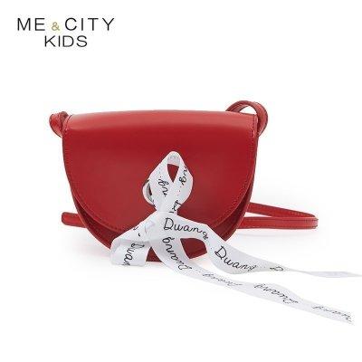 【1件2.7折:39.4】米喜迪mecity童裝蝴蝶結裝飾斜挎包