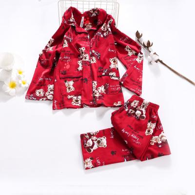 紅豆居家(Hodohome)中大童童裝兒童B類全棉精品活性印花居家服男童女童睡衣套裝