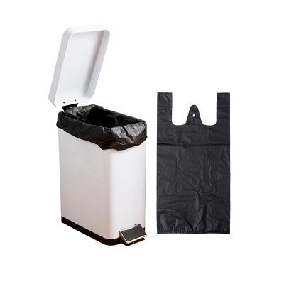 欧润哲(ORANGE) 10升100只装黑色塑料袋背心式垃圾袋大号清洁袋手提一次性胶袋
