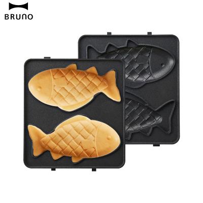 日本BRUNO 鲷鱼烧烤盘mini BOE043-FISH 轻食机配件【mini鲷鱼盘】烤盘