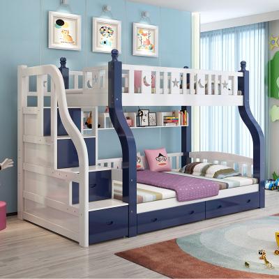 禧漫屋床 上下床子母床雙成人高低床雙人床上下鋪成年大人床全實木床公主床兒童床 帶護欄