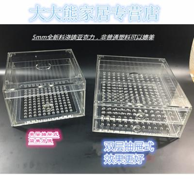 干湿分离过滤器设备亚克力抽屉式底滤鱼缸过滤盒滴流订做精品
