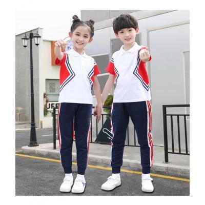 幼儿园园服夏装短袖儿童校服套装运动服小学生班服夏季毕业服定制