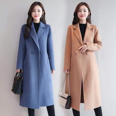 童光流年(TOGOLUNE)女士风衣双面尼毛呢大衣女中长款2019秋冬新款呢子外套女