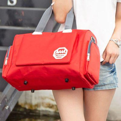 韓版大容量旅行包手提行李包袋女短途防水旅游出差男單肩健身學生朵洛蒂