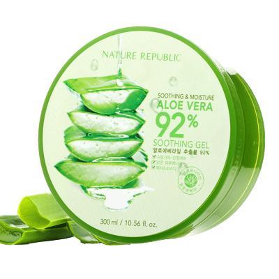 Nature Republic 納益其爾 自然樂園 蘆薈舒緩保濕凝膠 300ml 舒緩保濕蘆薈膠 改善浮腫狀態;控油平衡