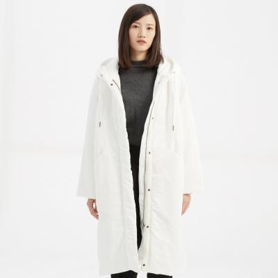 CHIN祺女士棉服中長款連帽外套2020新款春秋季棉外套棉服厚外套新