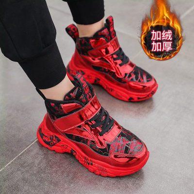 男童棉鞋2019秋冬季鞋新款中大童潮保暖加絨兒童鞋子男孩二棉冬鞋