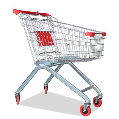 歐寶美超市購物車超市推車物業手推車貨車賣場單層提籃車KTV推車理貨車歐式