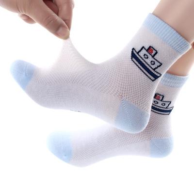 5双装儿童袜子夏季薄款网眼袜男孩女孩男童女童宝宝小孩春秋童袜 臻依缘