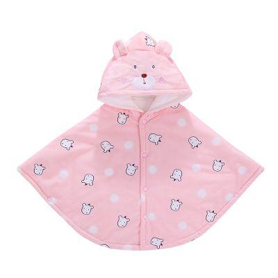 2019嬰兒披風斗篷加厚秋冬季款嬰幼兒童男女寶寶保暖披肩外出防風