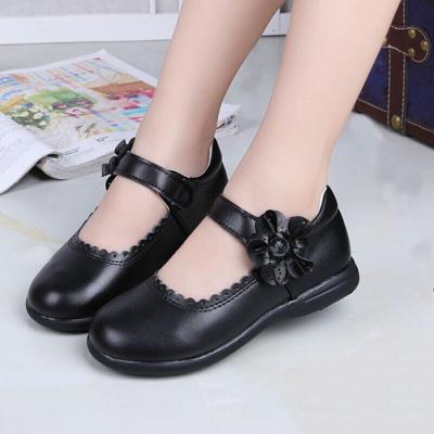 迪魯奧(DILUAO)女童皮鞋紅色公主鞋白黑單鞋韓版方口學生鞋小女孩皮鞋兒童鞋