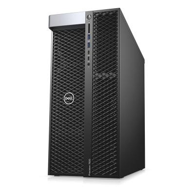戴爾(DELL) T7920塔式圖形VR深度學習GPU工作站渲染仿真計算設計師AI智能臺式電腦主機 1顆至強銀牌4215 8核2.5GHz 64G/512G+4T/P2000-5G