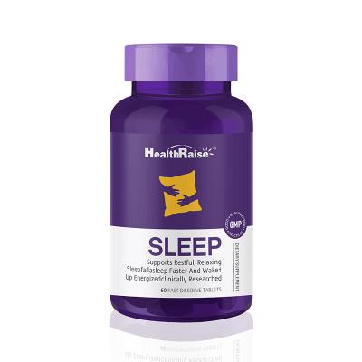 Health Raise褪黑素睡眠片60片/瓶 掌控睡眠節奏 自然入睡精神好 美國進口