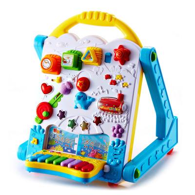 澳贝(AUBY) 益智玩具 电子多功能学习桌 婴幼儿童学步机拼插音乐写字板电子琴 塑料玩具 1-3岁 463439DS