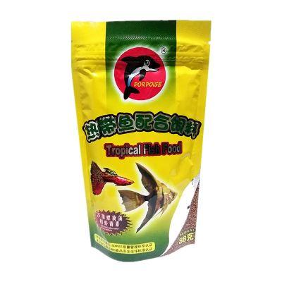 宠弗 88克小型热带鱼饲料凤尾鱼红绿灯斗鱼微颗粒孔雀鱼粮鱼食 海豚88克热带鱼粮 海豚88克热带鱼饲料1袋