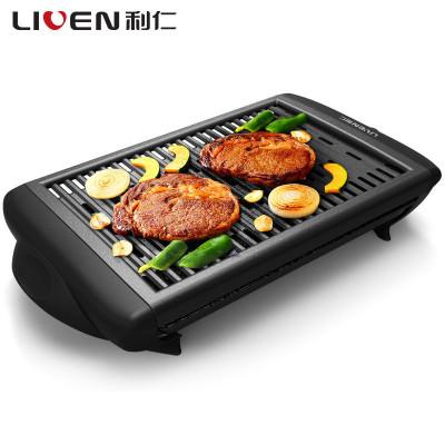 利仁(Liven)煎烤盘KL-J4500 韩式家用电烤炉电烤盘电煎锅不粘涂层烤肉锅煎肉煎烤盘机械式