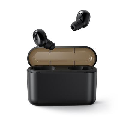 宾丽 BL1 隐形双耳蓝牙耳机无线迷你入耳式运动耳塞超长待机苹果安卓通用 (豪华版黑色双耳2200豪安充电收纳仓)