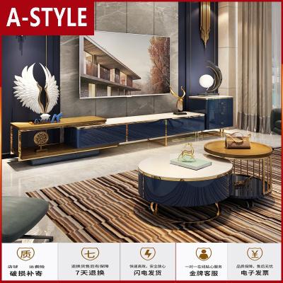 蘇寧放心購新款北歐輕奢風電視柜茶幾組合高檔后現代可伸縮大戶型家具全套(此為電視柜)A-STYLE家具