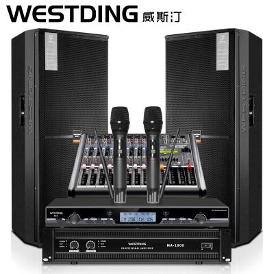 WESTDING/威斯汀 WST-2018專業大功率雙15英寸舞臺演出音響套裝專業舞臺音響大型活動婚慶學校舞臺音響設備