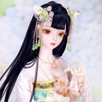 德必勝娃娃DF夢童話芭比娃娃公主套裝大禮盒古裝娃娃改妝換裝仿真洋娃娃兒童男孩女孩玩具生日禮物 谷雨(微雨)DF18105
