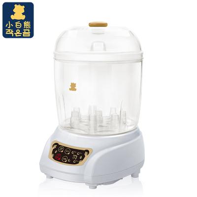 小白熊 宝宝奶瓶消毒器婴儿奶瓶消毒烘干器大容量奶瓶蒸汽消毒锅带烘干HL-0681