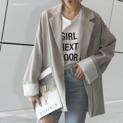 2019新款春装女装chic休闲宽松小西装外套女士小西服F555