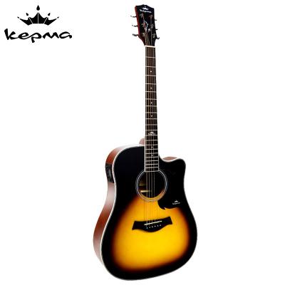 卡馬自營(KEPMA)D1CE3TSM吉他初學者電箱吉他入門吉它jita日落色41英寸