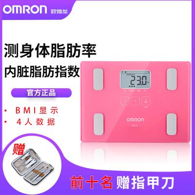 歐姆龍(OMRON)HBF-212電子秤 人體秤 脂肪測量儀 脂肪秤 電子稱 嬰兒 體脂秤 測體重 便攜 迷你 精準