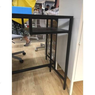 11维特索 笔记本电脑桌 黑褐色白色办公工作化妆台国内