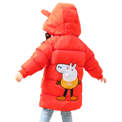 新款童裝男童女童小豬羽絨服中長款連帽寶寶加厚保暖羽絲絨服兒童外套性價比高
