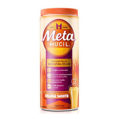 【满200减50】Metamucil美达施膳食纤维粉 代餐香橙味72次/罐425g 纤维素非酵素代餐粉 澳洲进口