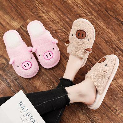 卡通棉拖鞋女家居可爱毛绒冬季情侣室内保暖冬天加厚家用儿童包跟威珺