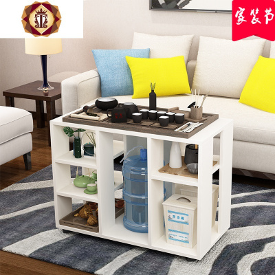 三維工匠簡易可移動茶幾置物柜喝茶桌辦公室茶水柜燒水桌功夫茶桌茶車邊幾