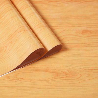 自粘防水家具翻新木紋紙 自貼墻紙 宿舍寢室壁紙 衣柜臥室貼紙弧威