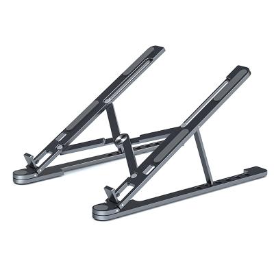 安美寶 蘋果筆記本電腦支架托懸空升降桌面架子MacBook增高散熱托架折疊鋁合金聯想便攜式金屬底座手提抬高