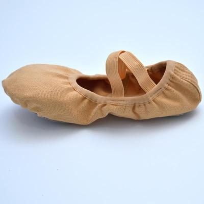 【蘇寧好貨】跳舞鞋全彈力布免系帶芭蕾舞蹈鞋軟底女練功鞋兒童形體貓爪鞋成人顯腳背