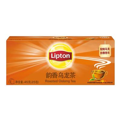 立顿Lipton 乌龙茶 福建高山茶叶 袋泡茶包 1.8g*25包(新老包装随机发货)