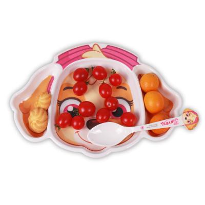 汪汪隊立大功(PAW PATROL)兒童餐具卡通形三格雙格餐盤密胺耐磨防摔餐盤寶寶可愛卡通餐盤卡通形天天三格盤