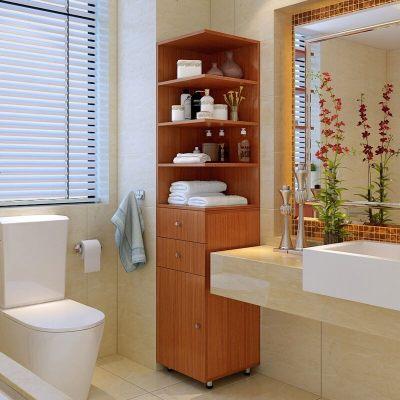 简约卫生间柜夹缝转角柜家用储物柜多功能收纳柜卧室边角柜酒柜