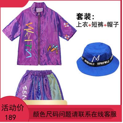 童装儿童演出服夏季男童街舞套装少儿帅气嘻哈中国风表演服衣服潮