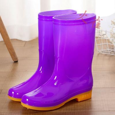 莎丞四季雨鞋防水鞋防滑加棉保暖時尚膠鞋套鞋水靴女中筒雨鞋