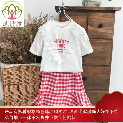 亲子装夏装潮一家三口四口母子装母女装洋气时尚网红图片件数为展示