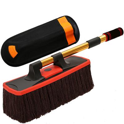 傳楓 洗車拖把掃灰撣子純棉伸縮式蠟拖洗車清潔用品汽車擦車拖把洗車工具刷子除塵撣刷車撣子蠟刷