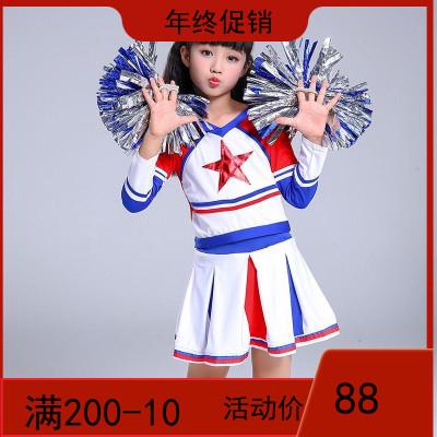 啦啦队服装男女套装足球宝贝学生成人啦啦操长袖衣服运动会演出服