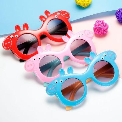 尚谷伊美兒童太陽鏡男女童寶寶墨鏡卡通眼鏡夏日遮陽防紫外線小孩可愛眼鏡