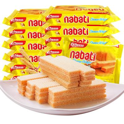 印尼進口麗芝士納寶帝奶酪威化餅干500g20小包網紅休閑零食品餅干一斤裝